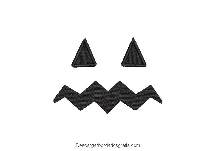 Bordado rostro de fantasma para máquina gratis