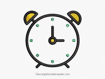 Descargar diseño bordado de reloj gratis