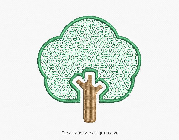 Diseño bordado de árbol gratis