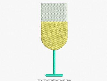 Diseño bordado de copa para bordar gratis
