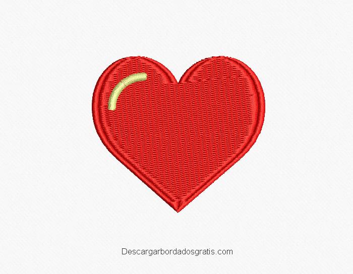 Diseño bordado de corazón para bordar