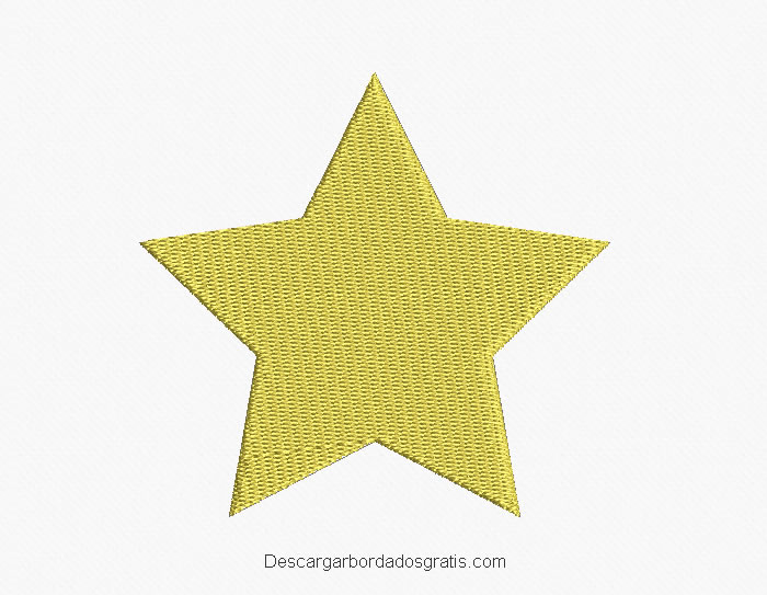 Diseño bordado de estrella para bordar
