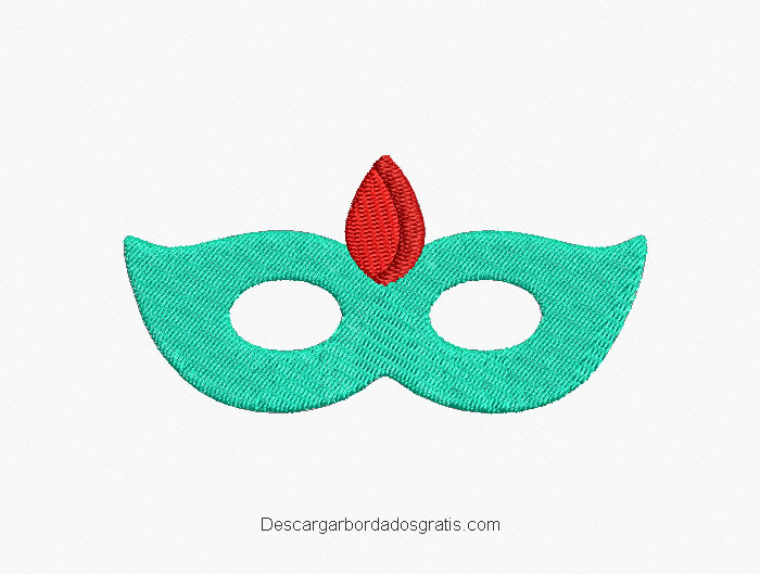 Diseño bordado de mascara gratis