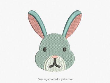Diseño bordado rostro de conejo gratis
