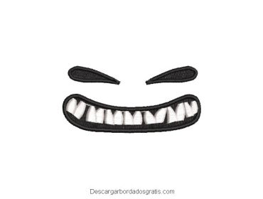 Diseño bordado calabaza con dientes gratis