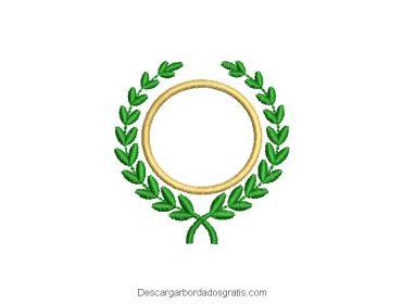 Diseño bordado de corona de hojas gratis