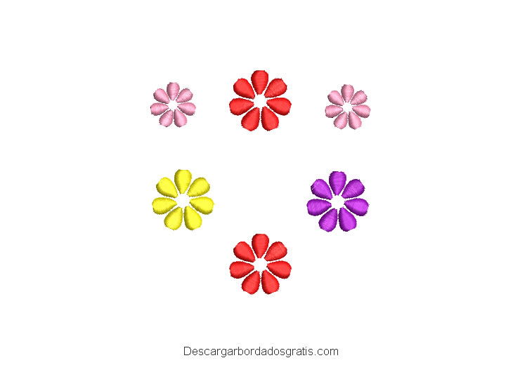 Diseño bordado de flores de colores gratis