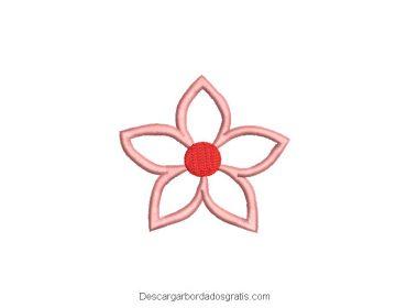 Diseño bordado de flores rosa gratis