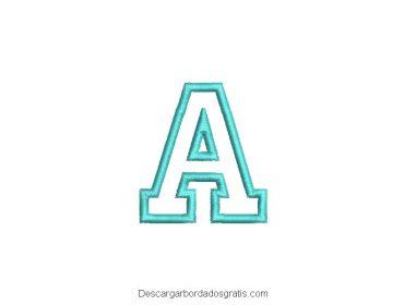 Diseño bordado de letra A gratis
