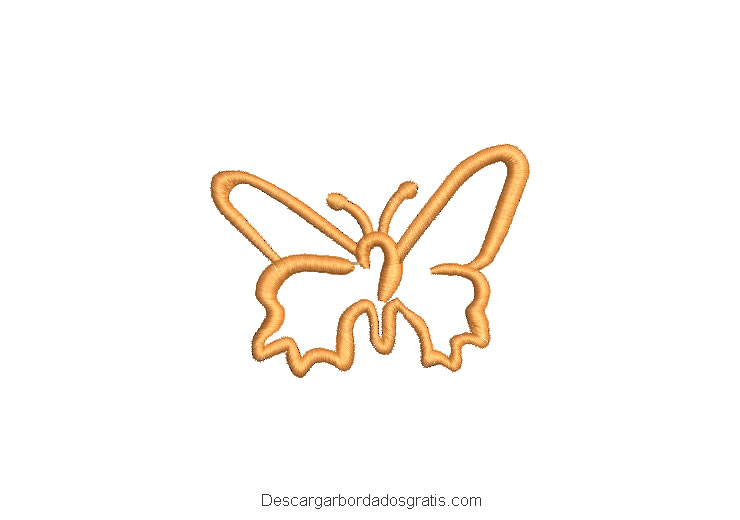 Diseño bordado de mariposa gratis