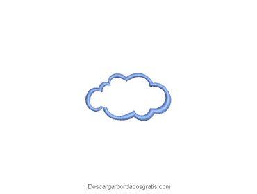 Diseño bordado de nube gratis