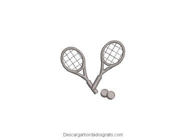 Diseño bordado de palo de tenis gratis