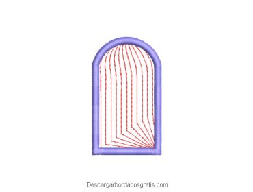 Diseño bordado de ventana gratis