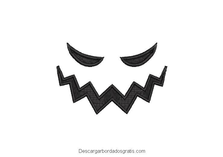Diseño bordado rostro de calabaza estrella gratis