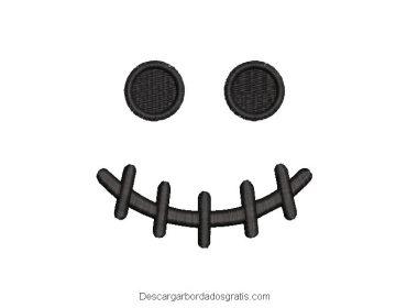 Diseño bordado rostro de calabaza gratis
