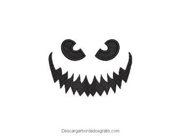 Diseño bordado rostro de fantasma gratis